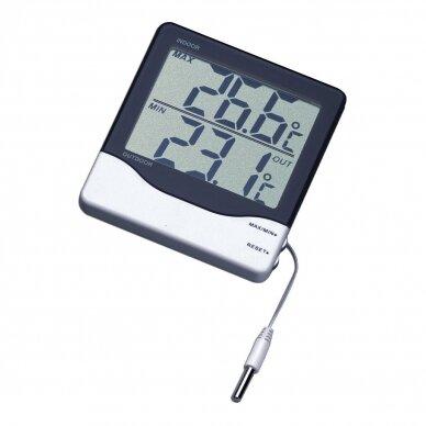 Skaitmeninis vidaus ir lauko termometras su zondu SU METROLOGINE PATIKRA TFA 30-1011 2