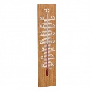 Ąžuolinis skystinis vidaus ir lauko termometras TFA 12-1054
