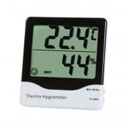 Termometras - higrometras su max/min funkcija, komforto lygio indikatoriumi ir dideliu ekranu ETI 810-145 su METROLOGINE PATIKRA