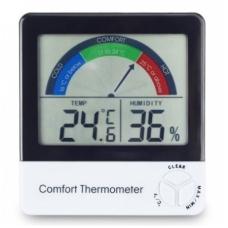 Termometras - higrometras su max/min funkcija ir komforto lygio indikatoriumi ETI 810-135