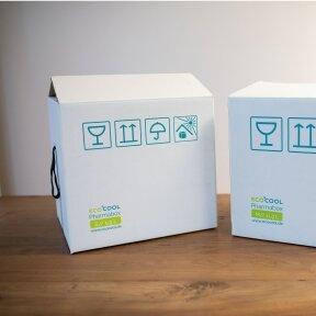 Temperatūrinė S dydžio dėžė farmacijos produktams PHARMABOXES 2°C-8°C