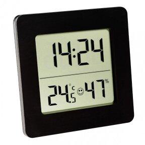 Termometras - higrometras su laikrodžiu, data ir žadintuvu TFA 30-5038-01
