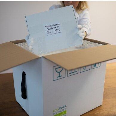 Temperatūrinė L dydžio dėžė farmacijos produktams PHARMABOXES 2°C-8°C 3