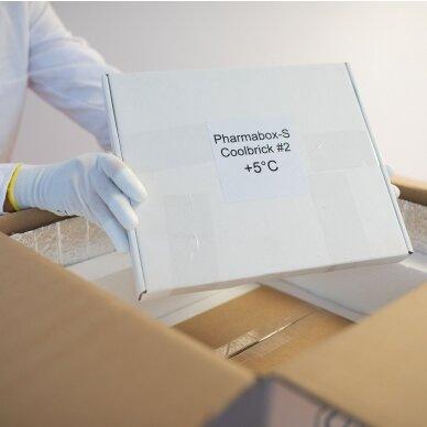 Temperatūrinė L dydžio dėžė farmacijos produktams PHARMABOXES 2°C-8°C 2