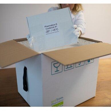 Temperatūrinė L-ii dydžio dėžė farmacijos produktams PHARMABOXES 2°C-8°C 3