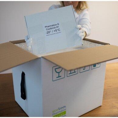 Temperatūrinė M-ii dydžio dėžė farmacijos produktams PHARMABOXES 2°C-8°C 4