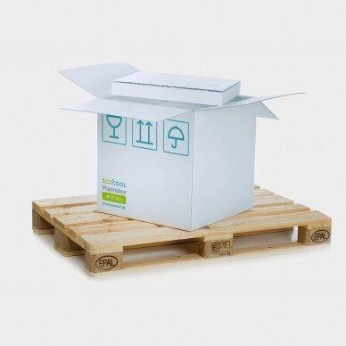 Temperatūrinė M-ii dydžio dėžė farmacijos produktams PHARMABOXES 2°C-8°C 2