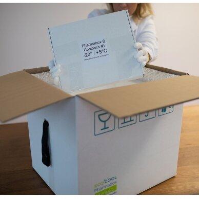 Temperatūrinė XL dydžio dėžė farmacijos produktams PHARMABOXES 2°C-8°C 3