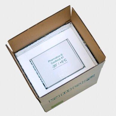 Temperatūrinė S dydžio dėžė farmacijos produktams PHARMABOXES 2°C-8°C 5