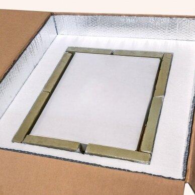 Temperatūrinė L-ii dydžio dėžė farmacijos produktams PHARMABOXES 2°C-8°C 5