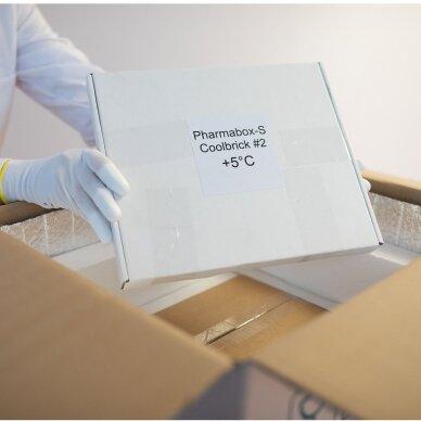 Temperatūrinė XS dydžio dėžė farmacijos produktams PHARMABOXES 2°C-8°C 2