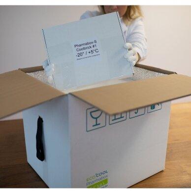 Temperatūrinė XS dydžio dėžė farmacijos produktams PHARMABOXES 2°C-8°C 3