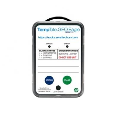 TempTale®GEO Eagle vienkartinis temperatūros, vietovės ir šviesos registratorius