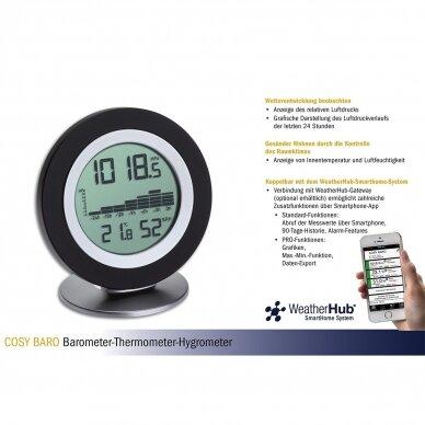 Bevielė orų stotelė: termometras-higrometras-barometras TFA COSY BARO 4