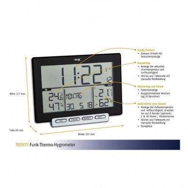 Bevielis termometras-higrometras su belaide stotele su METROLOGINE PATIKRA TFA TRINITY 2