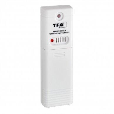 Bevielis termometras-higrometras su belaide stotele su METROLOGINE PATIKRA TFA TRINITY 5