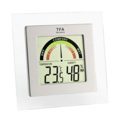 Termometras-higrometras su komforto lygio indikatoriumi TFA 30.5023