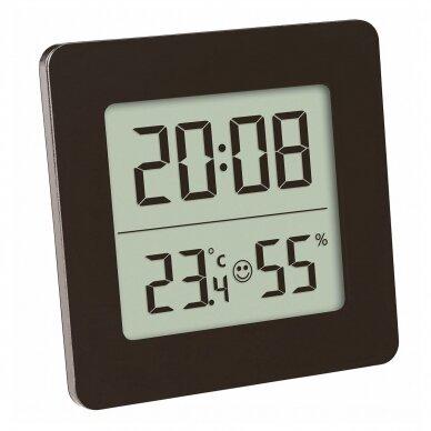 Termometras - higrometras su laikrodžiu, data ir žadintuvu SU METROLOGINE PATIKRA TFA 30-5038-01 2