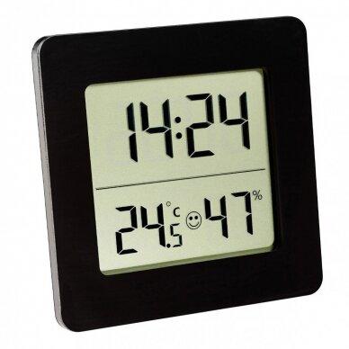 Termometras - higrometras su laikrodžiu, data ir žadintuvu SU METROLOGINE PATIKRA TFA 30-5038-01