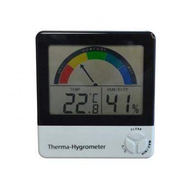 Termometras-higrometras su max/min funkcija ir komforto lygio indikatoriumi ETI 810-130