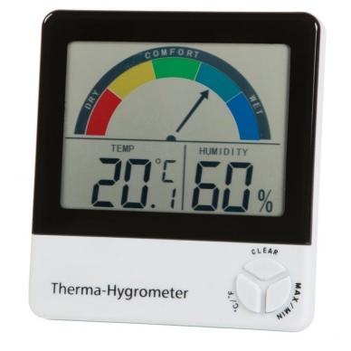 Termometras-higrometras su max/min funkcija ir komforto lygio indikatoriumi ETI 810-130 2