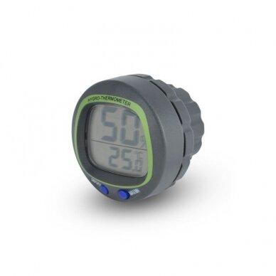 Termometras - higrometras su max/min funkcija skirtas įmontuoti į sieną ETI 810-180 2