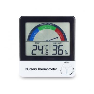 Termometras - higrometras su METROLOGINE PATIKRA, max/min funkcija ir komforto lygio indikatoriumi ETI 810-150