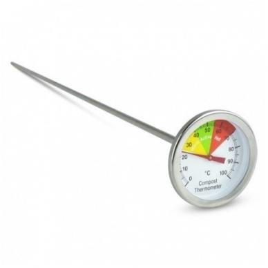 Termometras su 50cm zondu grūdų, žemės, komposto temperatūrai matuoti SU METROLOGINE PATIKRA ETI 800-765