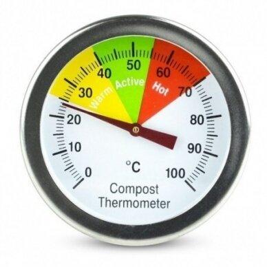 Termometras su 50cm zondu grūdų, žemės, komposto temperatūrai matuoti SU METROLOGINE PATIKRA ETI 800-765 2