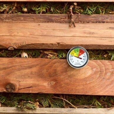 Termometras su 50cm zondu grūdų, žemės, komposto temperatūrai matuoti SU METROLOGINE PATIKRA ETI 800-765 3