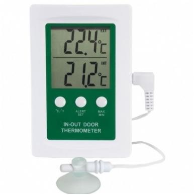 Skaitmeninis vidaus/lauko termometras su aliarmu ETI 810-080