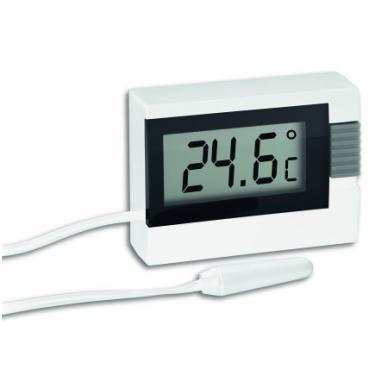 Termometras su 2.5m zondu vidaus (-10°C iki +60°C) ir išorės (-40°C iki +70°C) temperatūroms matuoti TFA 30.2018.02