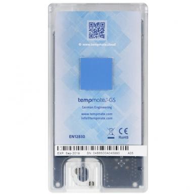 Vienkartinis realaus laiko temperatūros, drėgmės, šviesos ir smūgių registratorius TEMPMATE GS 2