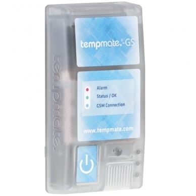 Vienkartinis realaus laiko temperatūros, drėgmės, šviesos ir smūgių registratorius TEMPMATE GS 3